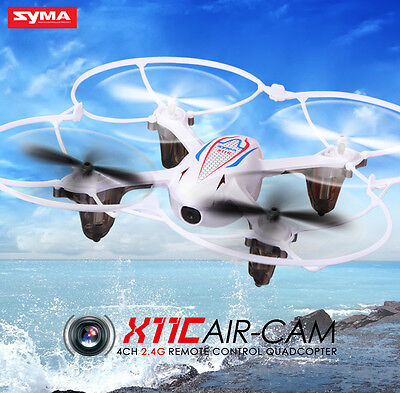 Toy Syma X11C 2.4G RC Quadcopter RTF Drone 2.0MP HD Camera + Aerial Photography