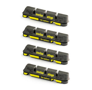Swissstop-Flash-Pro-Black-Prince-Carbon-Rim-Brake-Pad-Inserts-x-4-Black