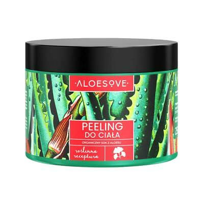 Aloesove Body Scrub Sugar and Grounded Green Coffee Beans / Peeling do Ciała