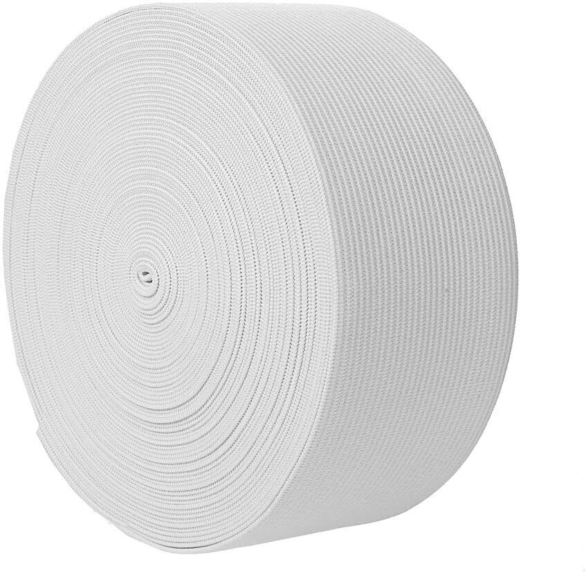 10m/1m Gummiband,  Gummilitze,  Wäschegummi,  Hosengummi Weiß 5cm NR