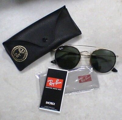 Lunettes Solaire Ray Ban Luxottica - RB3647N - Or - ROUND DOUBLE BRIDGE - (Ray Ban Sunglasses Police)