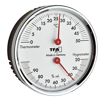 THERMOMETER- HYGROMETER TFA 45.2041.42 LUFTFEUCHTIGKEIT KLIMAKONTROLLE RAUMKLIMA