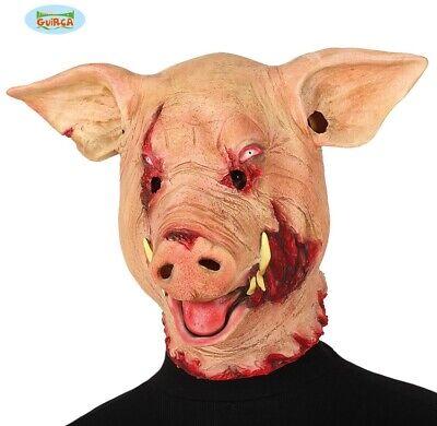 Erwachsene Halloween Horror Schwein Kostüm Maske Gory Wild Boar Kopfmaske Neu - Schwein Kopf Kostüm Maske