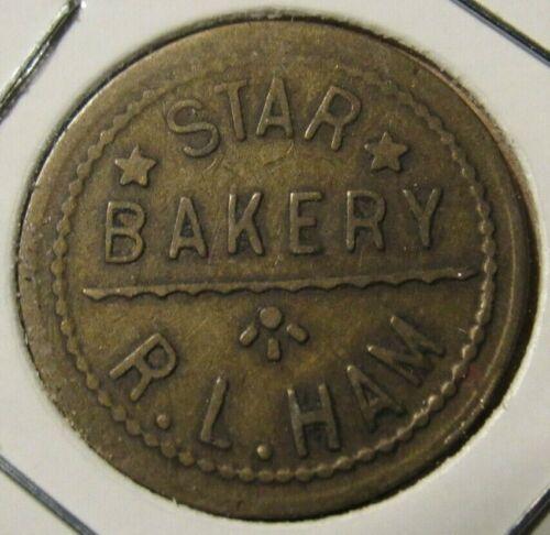 Very Old Star Bakery R.L. Ham Blackwell, OK 5c Trade Token - Oklahoma #2