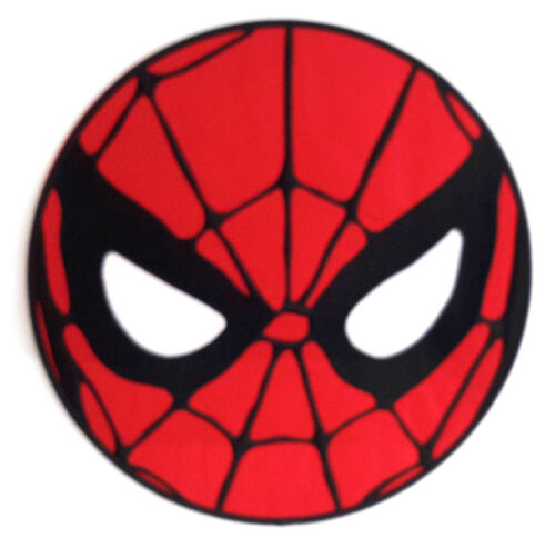 """Giant 10"""" Spider-Man Mask Embroidered Back Patch- Iron On"""