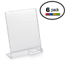 8.5 x 11 Clear Acrylic Slanted Sign Holder Displays with Business Card Holder (6