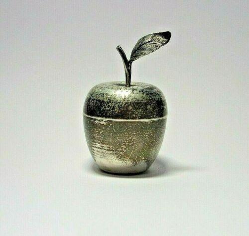 "TIFFANY & Co. Sterling SILVER Vintage Apple Trinket/ Pill Box 25008- 2.25"""