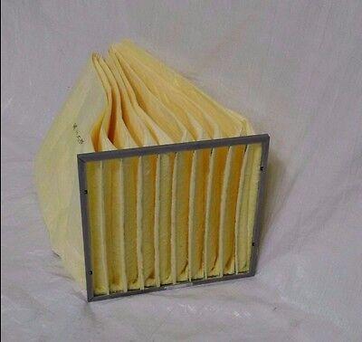 24x24x30 Fiberglass 10 Pocket 90-95 Vee-bag Filter 2 Loops Item 4cabf20