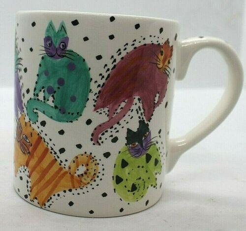 Laurel Burch Large Cat Mug 1991 Design Studio Inc.