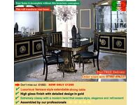 LUXURIOUS ITALIAN EXTENDABLE DINING TABLE WITH CHAIRS