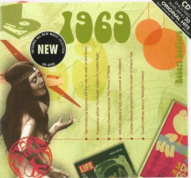 48th Anniversary or Birthday gift ~ Hit Music CD from 1969 and Greeting Card