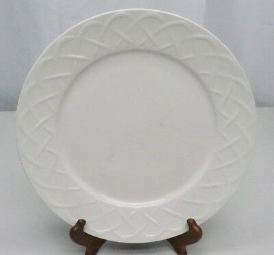 "Oneida Off White PICNIC Basket Weave 12"" Chop Serving Plate Embossed"