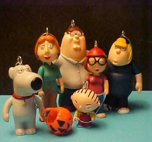 FAMILY GUY SET OF 6 ORNAMENTS PETER LOIS BRIAN STEWIE GRIFFIN