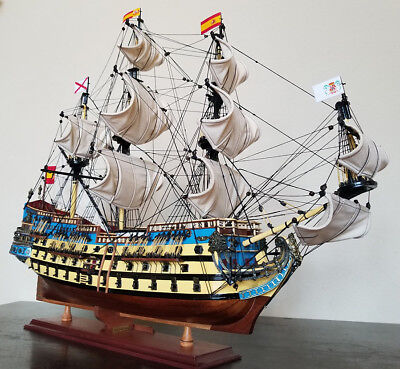 "San Felipe 32"" model wood ship Spanish navy wooden tall ship sailing boat"