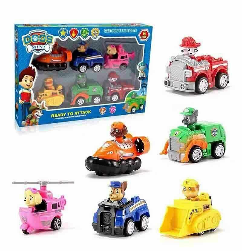 Paw Patrol Figuren 9 Stück Zurückziehen Autos Kinder Geschenk Spielzeug