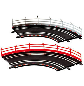 Carrera GO!!! Guardrail Fence for 1/43 slot car track 61651, 10/pk