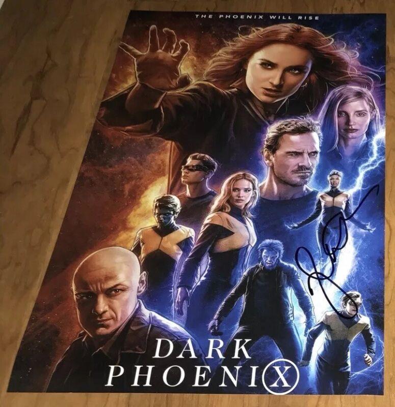 Jessica Chastain Signed 12x18 Photo X Men Dark Phoenix
