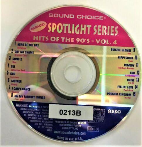 RARE! SOUND CHOICE KARAOKE SPOTLIGHT CD+G - 8530- HITS OF THE 90S - VOL.4 - CDG