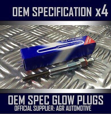 4 x OEM DIESEL GLOW PLUGS FGP644 FOR PEUGEOT 1007 1.4 2005/