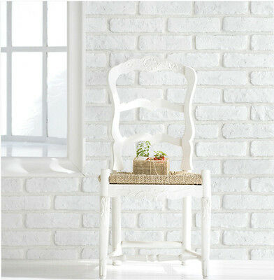 White Brick Pattern Vinyl Self Adhesive Stick Wallpaper Contact Paper