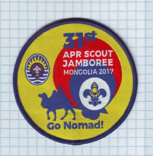 2017 Mongolia Boy Scouts, 31st APR SCOUT JAMBOREE Mongolia Go Nomad Badge NEW