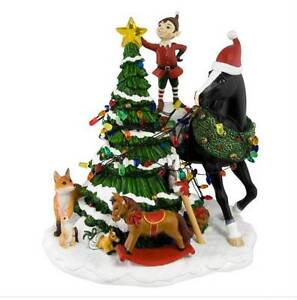 2012-LE-TRAIL-OF-PAINTED-PONIES-Woodland-Christmas-CENTERPIECE-1E-0195-NIB