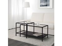 New IKEA two-piece glass coffee table
