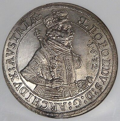 Click now to see the BUY IT NOW Price! AUSTRIA HALL 1632 LEOPOLD SILVER THALER NGC MS61