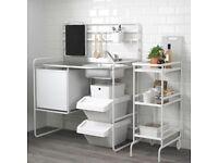 Ikea Sunnersta Mini Kitchen - Portable Kitchen inc Induction Hob
