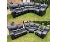 3 piece corner sofa black can be delivered