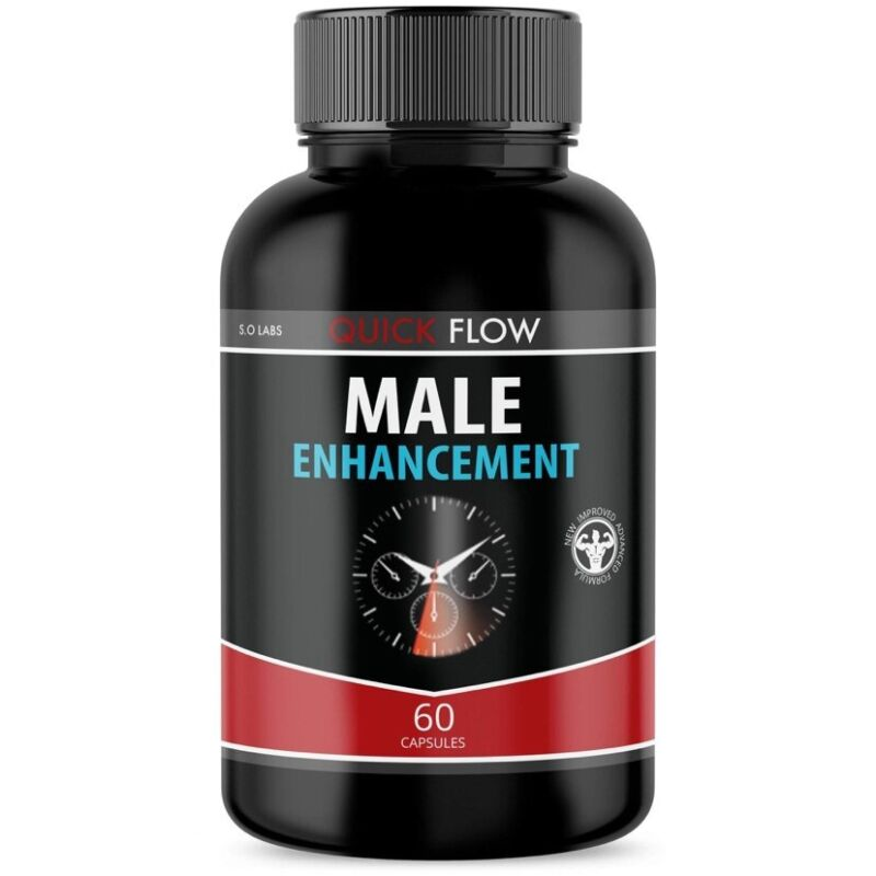 (1 Pack) QUICK FLOW Male Enhancement Support All Natural Increase Stamina 60ct