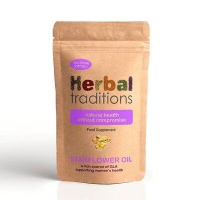 Herbal Traditions Aceite de Borraja (Aceite Borraja) Cápsulas Blandas - 1000mg