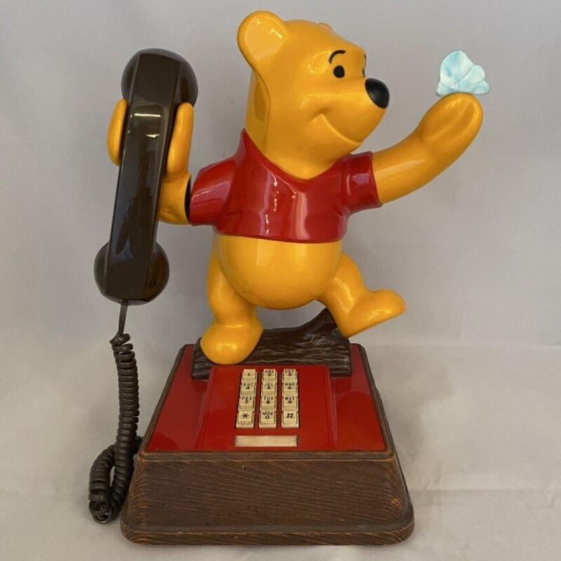 Vintage Walt Disney Winnie The Pooh Bear Push Button Home Office Telephone '76