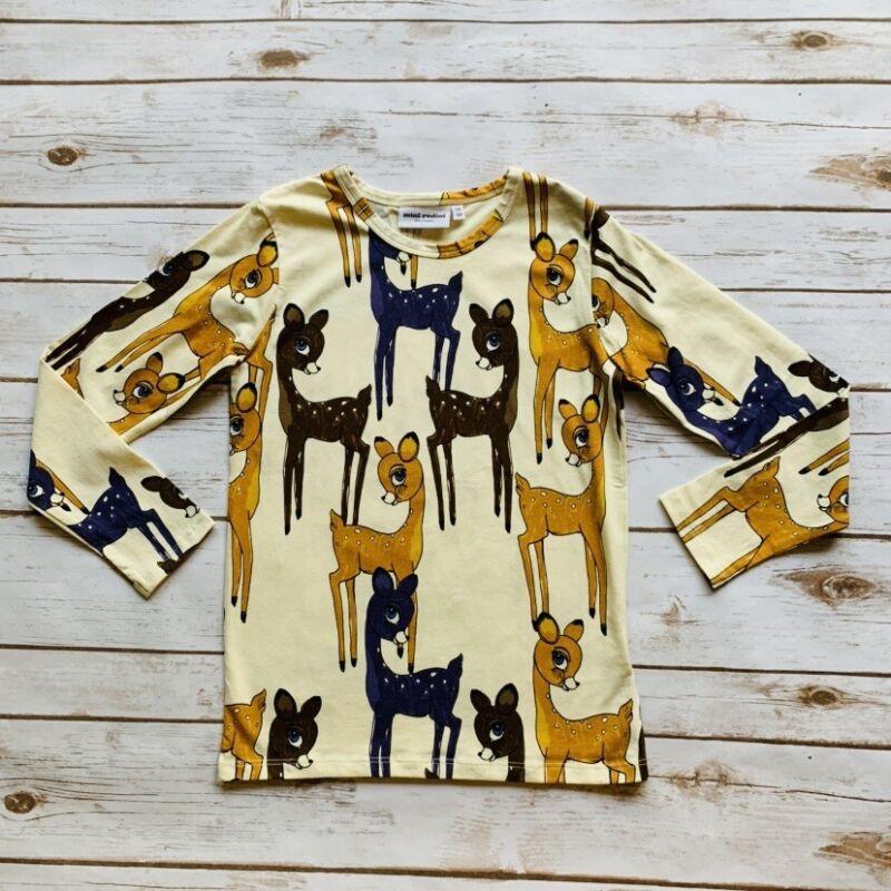 Mini Rodini Roe Deer LS T-Shirt, 128-134 Cm