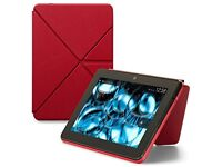 "Amazon Kindle Fire HDX Standing Leather Origami Case (7"", RED, 3rd Gen)"