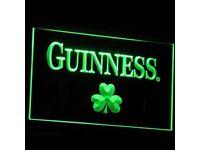 Guinness Shamrock Beer Bar Pub clup 3d Signs LED Neon Light Home Decor Crafts