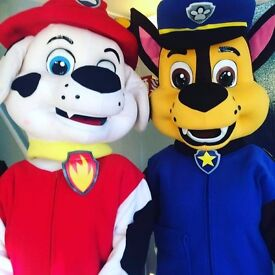 Paw Patrol Style Character Mascot Hire Childrens Entertainers Chase Marshall