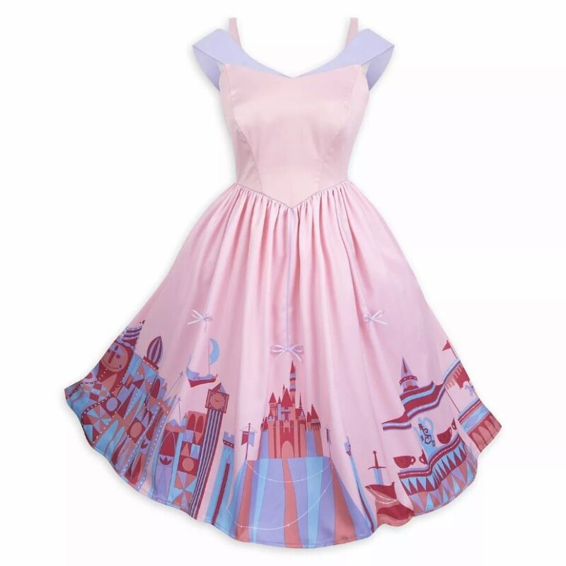 Disney Parks Disneyland The Dress Shop Fantasyland Attraction Pink Dress Size M