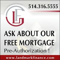 FREE AND NO COST MORTGAGE PRE-AUTHORIZATIONS!!!
