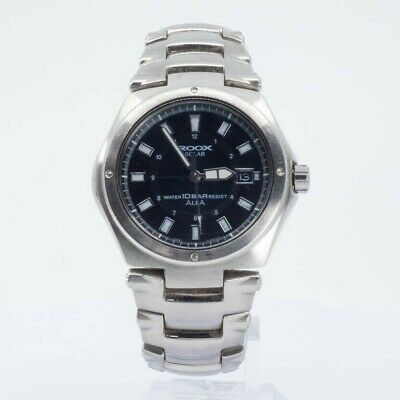 ALBA SEIKO ROOX SOLAR V145-0H20 STAINLESS STEEL WATCH JAPAN