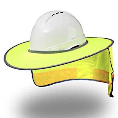 New Hard Hat Sun Shield - Construction Full Brim Mesh Neck Sun Shade Protector