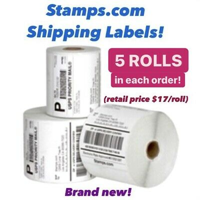 New Stamps.com Thermal Printer Shipping Labels Qty Of 5 4x6 For Zebraeltron