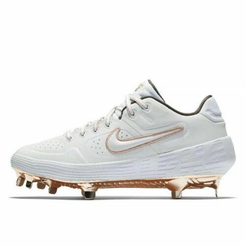 Nike Alpha Huarache Elite 2 Low Womens Baseball Cleats Metallic Gold AJ7732 109