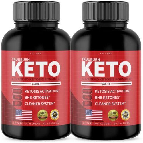 (2 Pack) Truuburn Keto Weight Loss Diet Pills goBHB Ketogenic Supplement