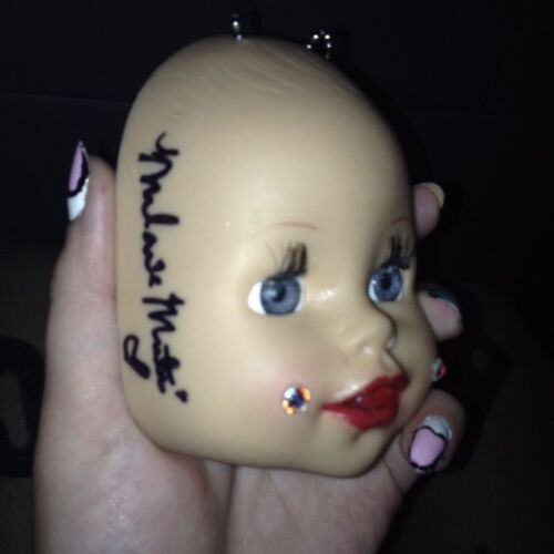 Handmade Baby Doll Necklace Signed By Melanie Martinez {Autograph / Signature}