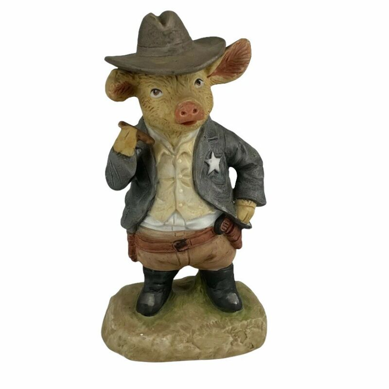 Enesco Gunfight At Pig Corral 1980 Sheriff with Cigar Figurine