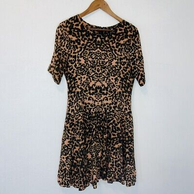 H&M Chedah Leopard Fit And Flare Dress 12
