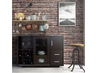 Espresso Brown Dry Bar Storage, Wine Rack Liquor Cabinet Buffet - from the US, sold out everywhere