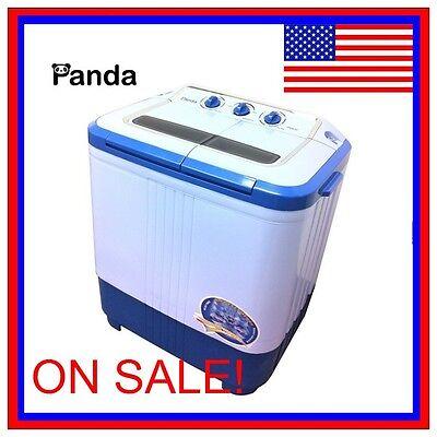 panda portable small compact washing machine washer spinner