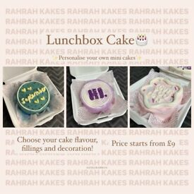 Lunchbox cakes 🎂 (small business)